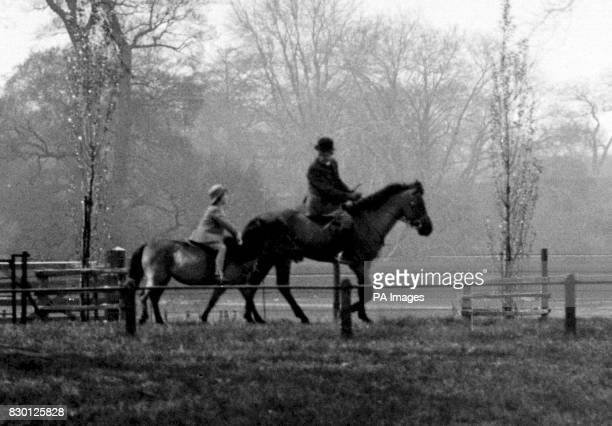 Princess Elizabeth spending her 7th birthday riding her favourite pony in Windsor Great Park