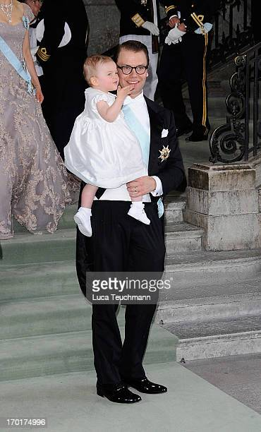 Princess Estelle of Sweden and Prince Daniel of Sweden attend the wedding of Princess Madeleine of Sweden and Christopher O'Neill hosted by King Carl...