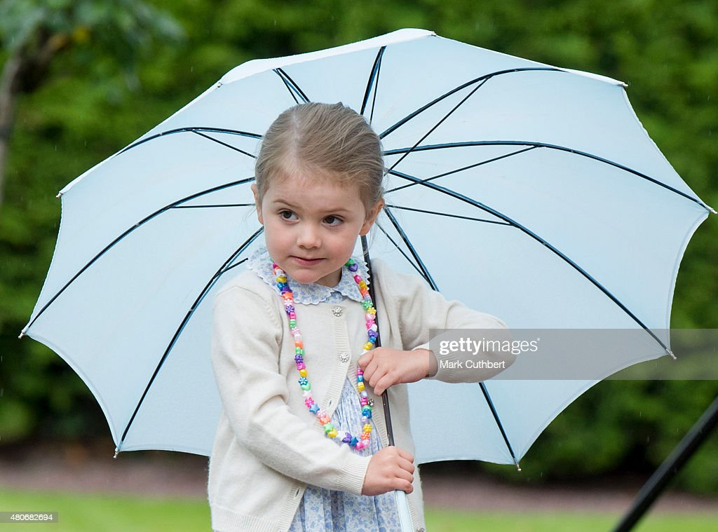 Princess Estelle of Sweden at the 38th birthday celebrations for Crown Princess Victoria at Solliden on July 14, 2015 in Oland, Sweden.