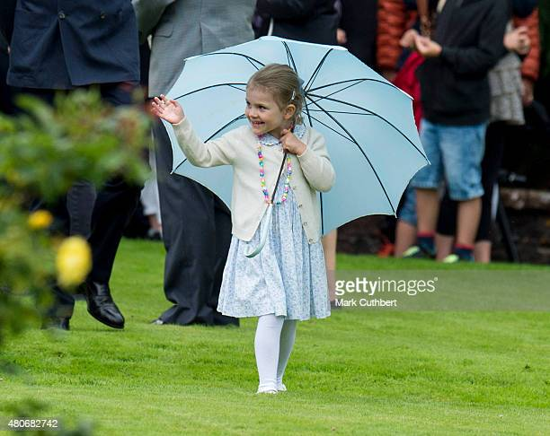 Princess Estelle of Sweden at the 38th birthday celebrations for Crown Princess Victoria at Solliden on July 14 2015 in Oland Sweden