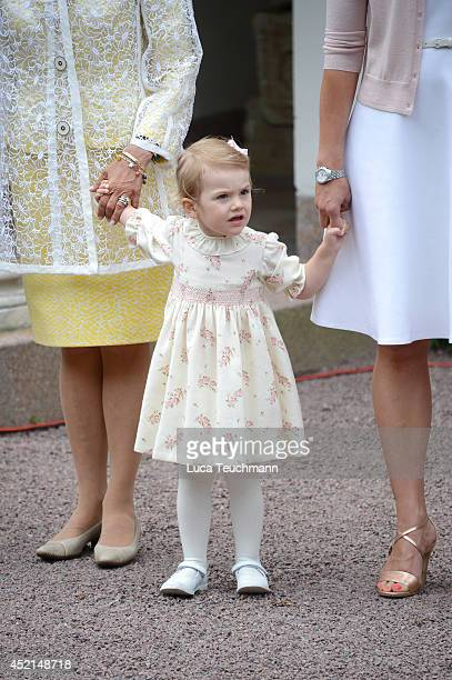 Princess Estelle of Sweden attend the Victoria Day celebrations on the Crown Princess's 37th Birthday at Solliden on July 14 2014 in Oland Sweden