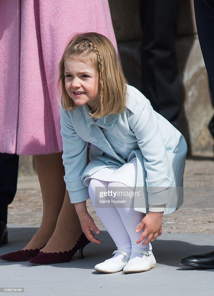Princess Estelle of Sweden attends celebrations of the Swedish Armed Forces for the 70th birthday of King Carl Gustaf of Sweden on April 30, 2016 in Stockholm, Sweden.