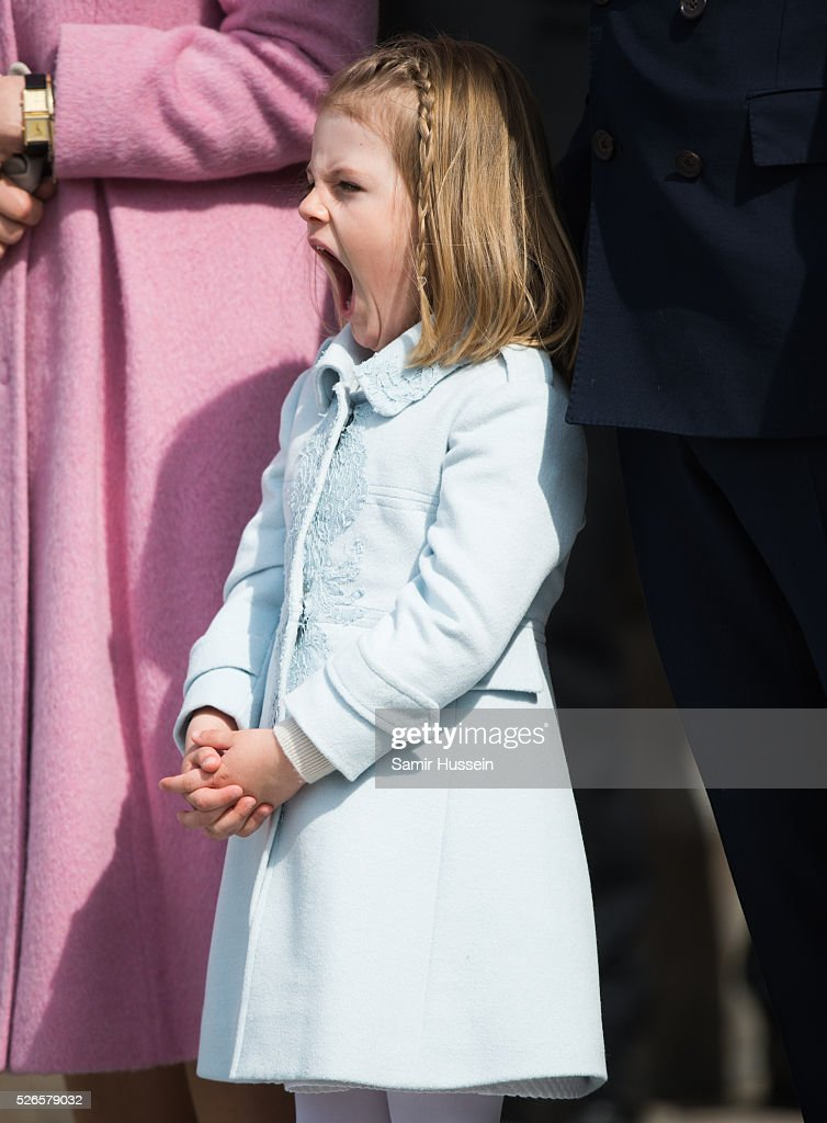 Princess Estelle of Sweden attends celebrations of the Swedish Armed Forces for the 70th birthday of King Carl Gustaf of Sweden on April 30, 2016 in Stockholm, Sweden.