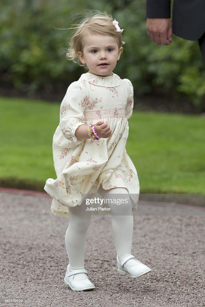 Princess Estelle of Sweden attends the 37th Birthday celebrations of her mother Crown Princess Victoria of Sweden,at Solliden, Borgholm on July 14, 2014 in Oland, Sweden.
