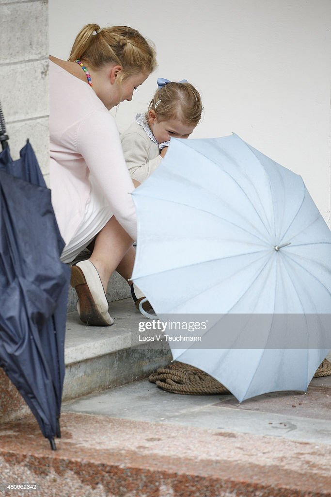 Princess Estelle of Sweden attends the 38th Birthday celebrations of Crown Princess Victoria of Sweden on July 14, 2015 in Oland, Sweden.