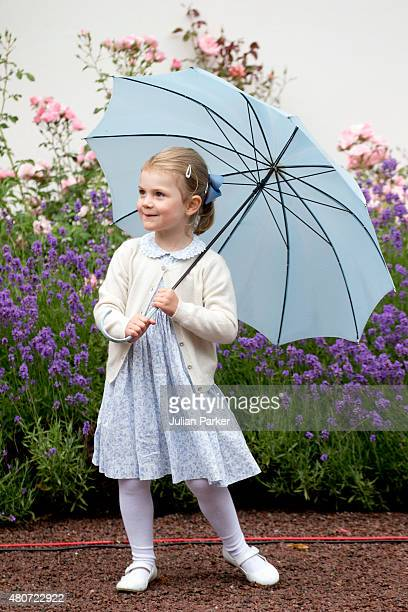 Princess Estelle of Sweden attends the Celebration for her mother Crown Princess Victoria of Sweden's 38th Birthday at Solliden Palace on July 14th...
