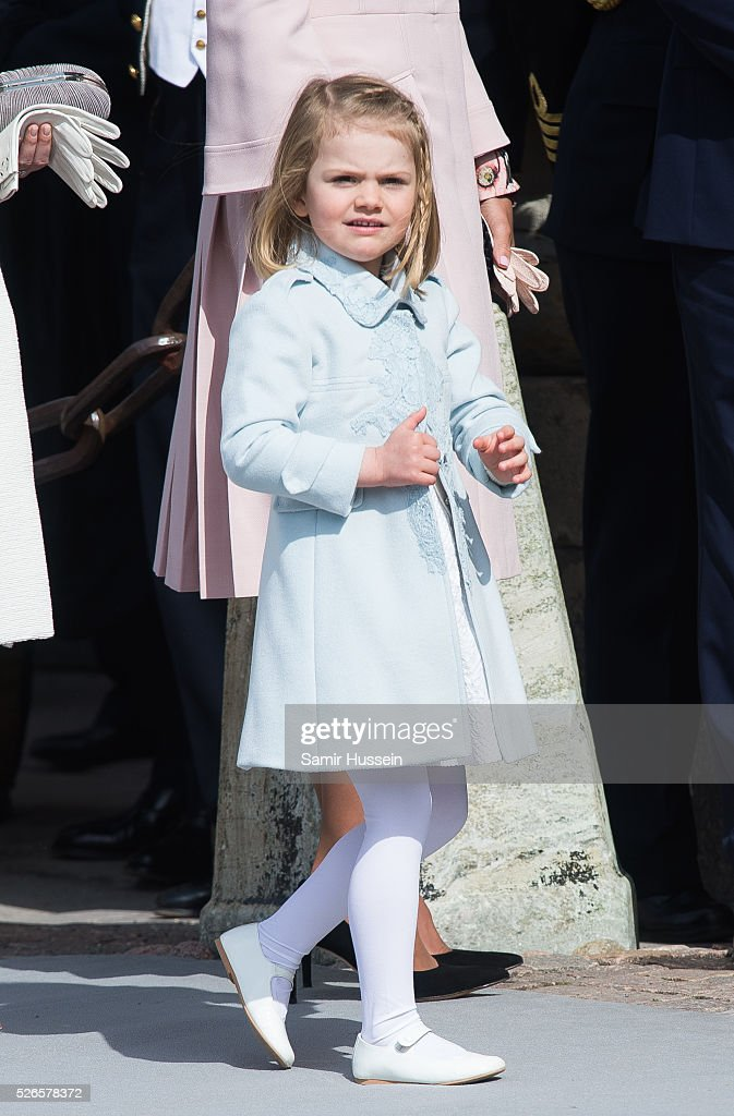<a gi-track='captionPersonalityLinkClicked' href=/galleries/search?phrase=Princess+Estelle&family=editorial&specificpeople=8948207 ng-click='$event.stopPropagation()'>Princess Estelle</a> of Sweden attends the celebrations of the Swedish Armed Forces for the 70th birthday of King Carl Gustaf of Sweden on April 30, 2016 in Stockholm, Sweden.