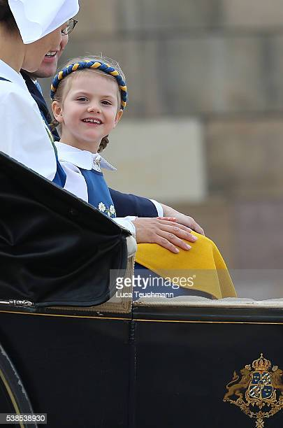 Princess Leonore Duchess of Gotland attend the National Day Celebrations on June 6 2016 in Stockholm Sweden