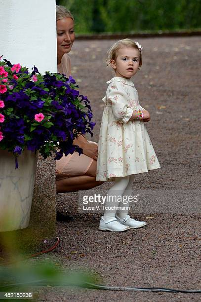 Princess Estelle of Sweden attends the Victoria Day celebrations on the Crown Princess's 37th Birthday at Solliden on July 14 2014 in Oland Sweden