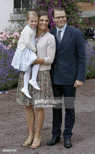 Princess Estelle of Sweden Crown Princess Victoria of Sweden and Prince Daniel of Sweden attends the 38th Birthday celebrations of Crown Princess...