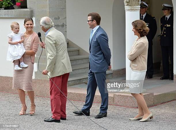 Princess Estelle of Sweden Crown Princess Victoria of Sweden King Carl XVI Gustaf of Sweden Prince Daniel Duke of Vastergotland and Queen Silvia of...