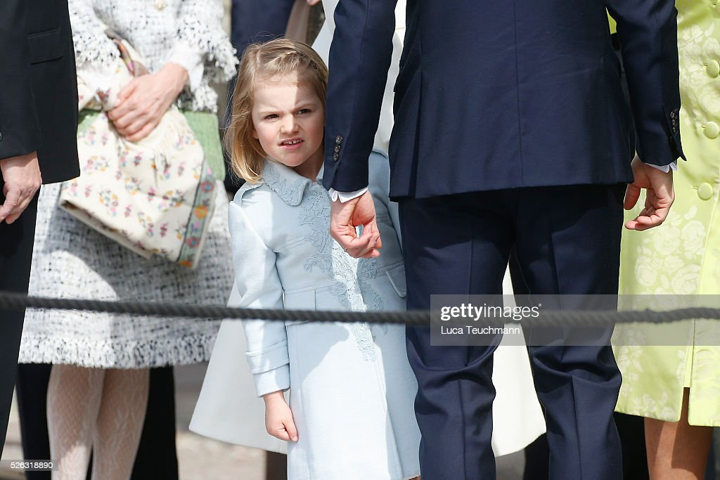 <a gi-track='captionPersonalityLinkClicked' href=/galleries/search?phrase=Princess+Estelle&family=editorial&specificpeople=8948207 ng-click='$event.stopPropagation()'>Princess Estelle</a> of Sweden is seen at the celebrations of the Swedish Armed Forces for the 70th birthday of King Carl Gustaf of Sweden on April 30, 2016 in Stockholm, Sweden.