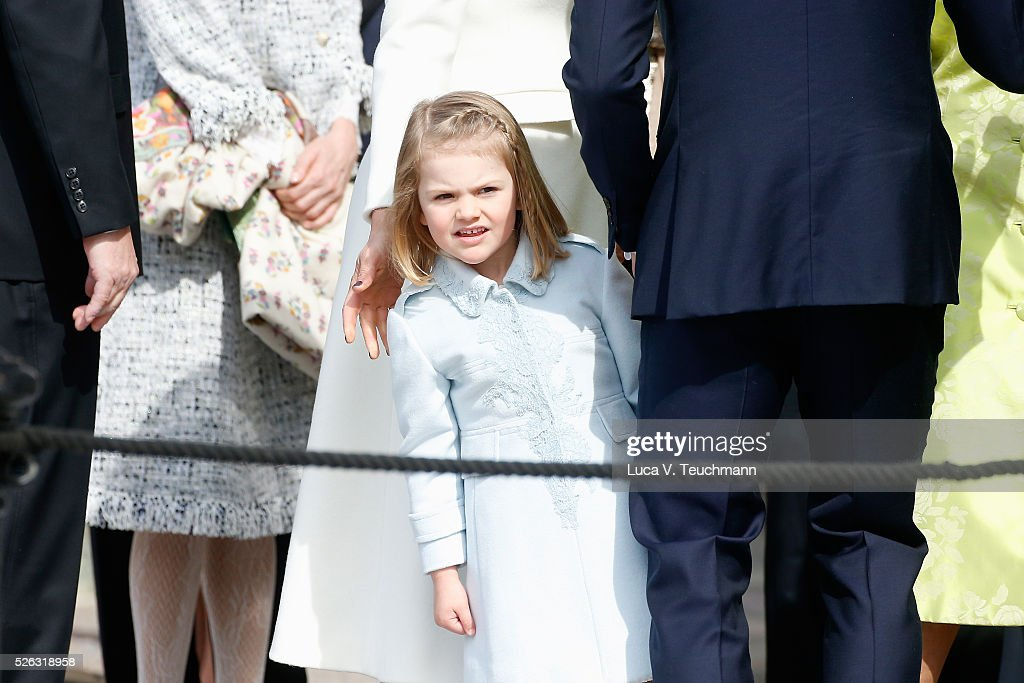 Princess Estelle of Sweden is seen at the celebrations of the Swedish Armed Forces for the 70th birthday of King Carl Gustaf of Sweden on April 30, 2016 in Stockholm, Sweden.
