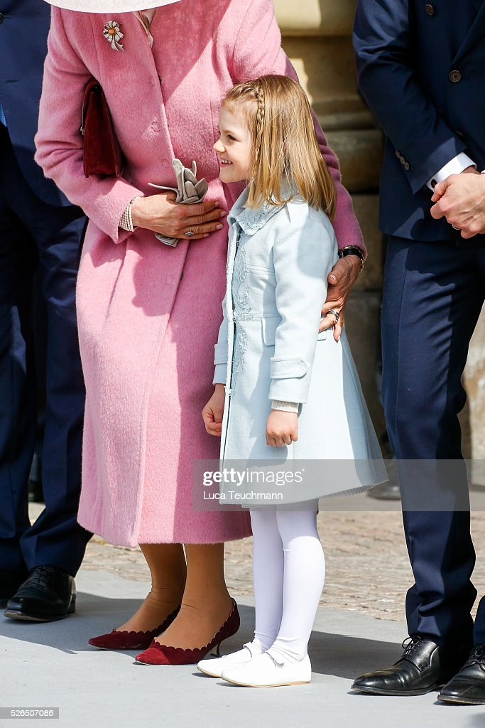 Princess Estelle of Sweden is seen at the celebrations of the Swedish Armed Forces for the 70th birthday of King Carl Gustaf of Sweden on April 30, 2016 in Stockholm, .