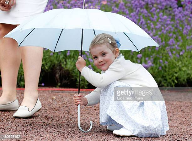 Princess Estelle of Sweden Nanny Katie attend the 38th Birthday celebrations of Crown Princess Victoria of Sweden on July 14 2015 in Oland Sweden