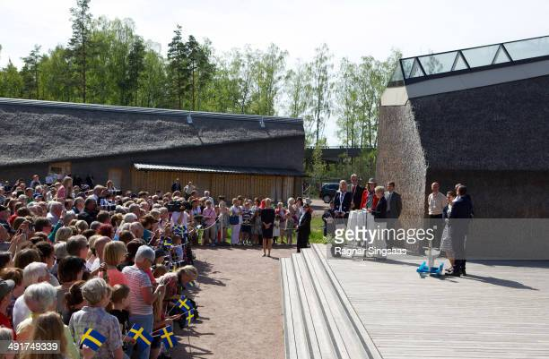 Princess Estelle of Sweden Prince Daniel of Sweden and Crown Princess Victoria of Sweden open a Fairytale Path at Lake Takern on May 17 2014 in...