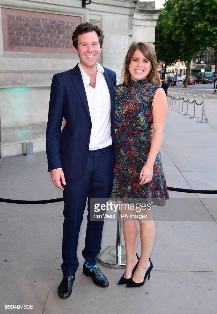 Princess Eugenie and Jack Brooksbank attending the V and A Summer Party held at the Victoria Albert Museum London