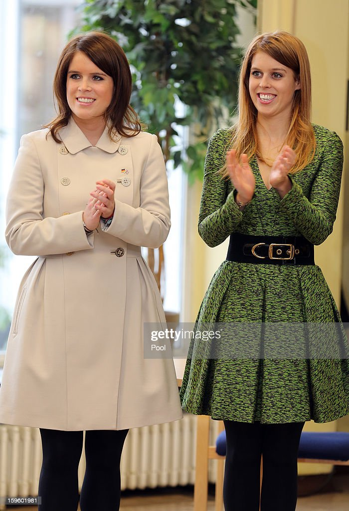 Princess Eugenie and Princess Beatrice of York visit the British School in Berlin on January 17, 2013 in Berlin, Germany. The royal sisters are in Berlin supporting the government's GREAT initiative, promoting the UK abroad. They will visit Hanover tomorow as part of a two-day trip funded by their father the Duke of York.