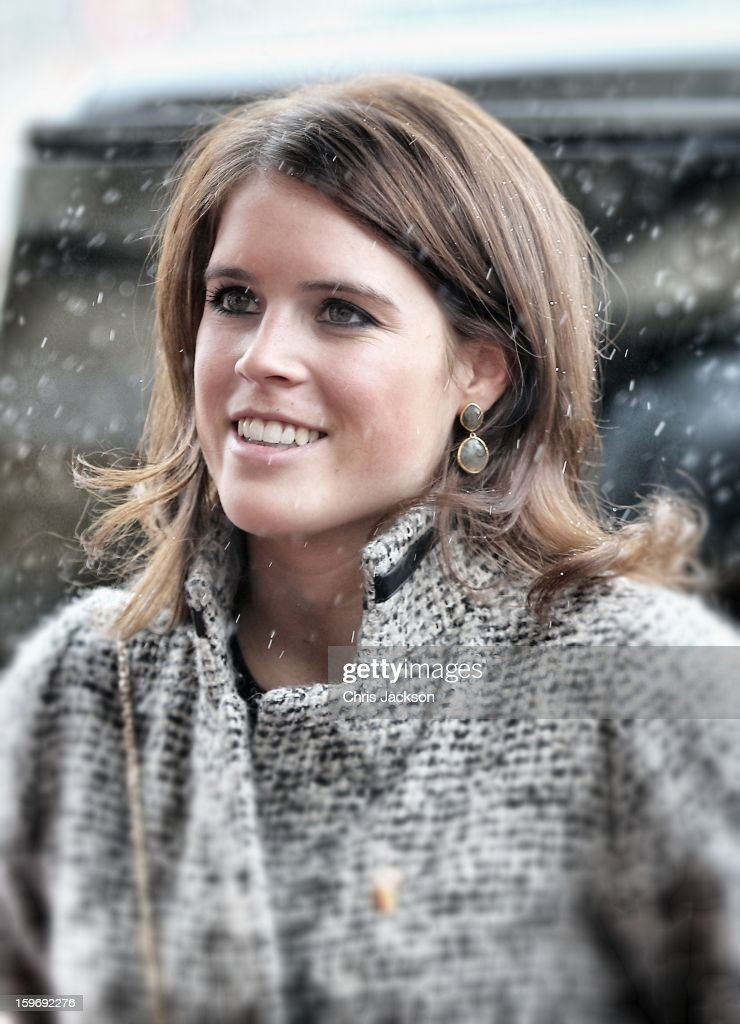 Princess Eugenie arrives at Hanover City Hall on January 18, 2013 in Hanover, Germany. The royal sisters are in Hanover on the second day of a two day visit to Germany.Yesterday the royals were in Berlin helping support GREAT, the British Government's initiative promoting the UK abroad.