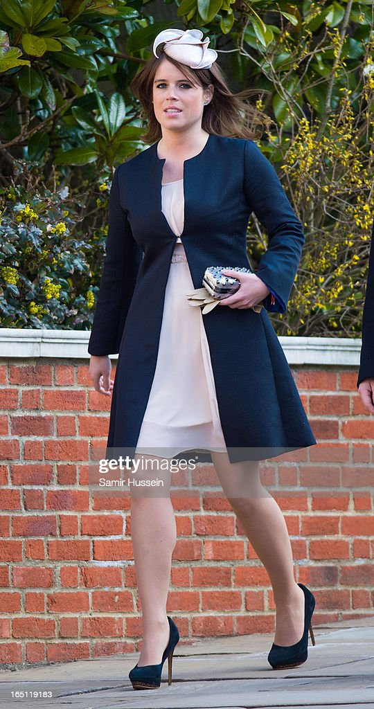 Princess Eugenie attends an Easter Matins Service at Saint George's Chapel in Windsor Castle on March 31, 2013 in Windsor, England.