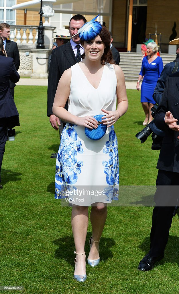 Princess Eugenie attends the annual Not Forgotten Association Garden Party, hosted by her father, The Duke of York at Buckingham Palace on May 26, 2016 in London, England.