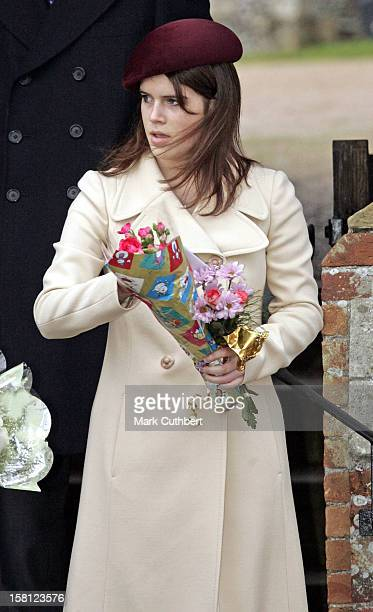 Princess Eugenie Attends The Christmas Day Service At Sandringham Church
