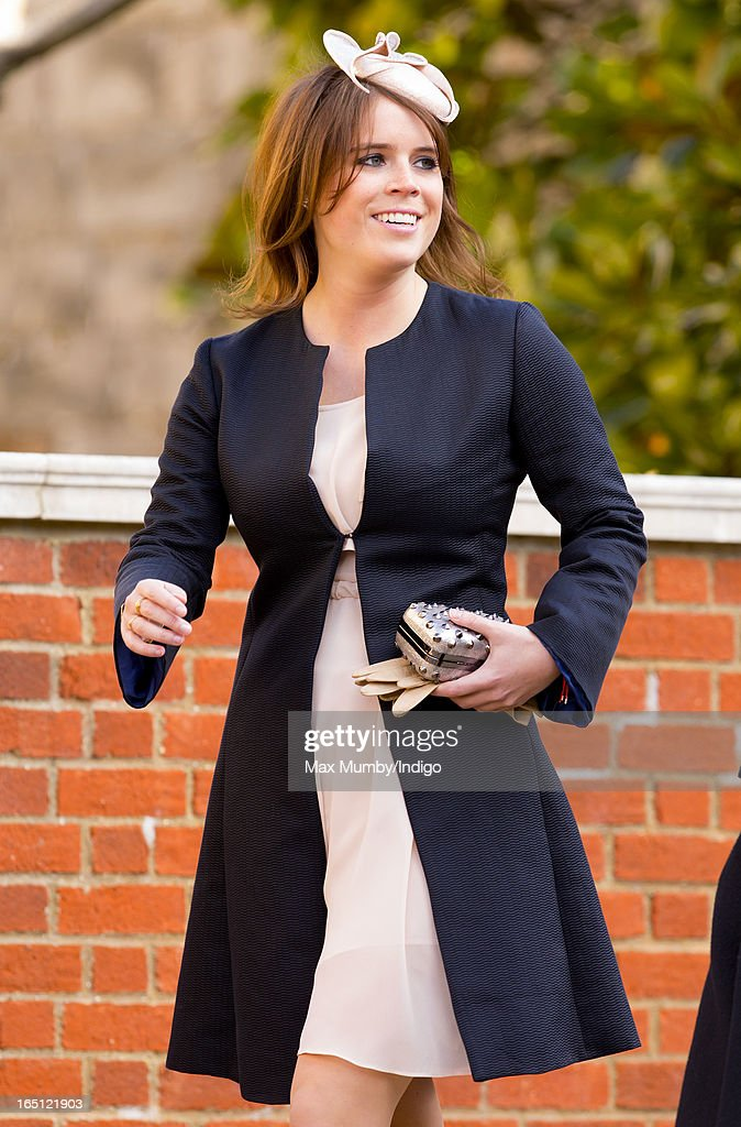 Princess Eugenie attends the Easter Matins Church Service at St George's Chapel, Windsor Castle on March 31, 2013 in Windsor, England.