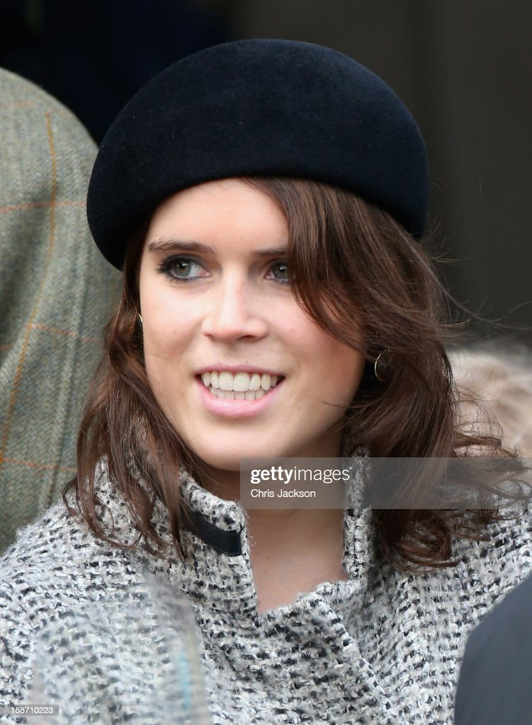 Princess Eugenie attends the traditional Christmas Day church service at St Mary Magdalene Church, Sandringham on December 25, 2012 near King's Lynn, England.