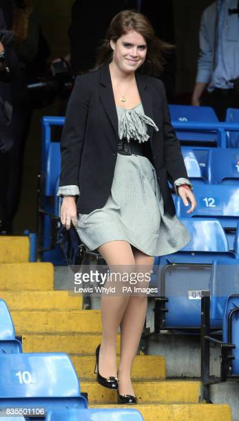 Princess Eugenie during a visit to Chelsea Football ClubStamford Bridge Fulham where she met with Sir David Tang Chairman of the Hong Kong Down...