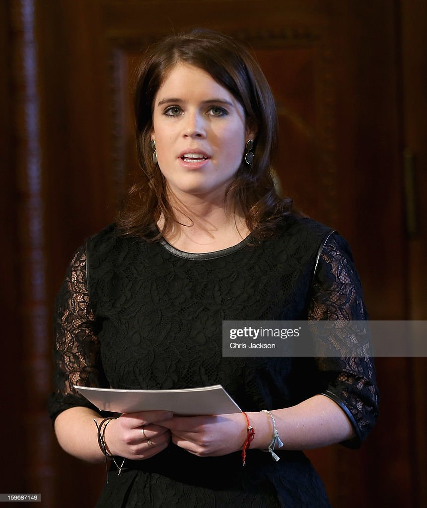 Princess Eugenie gives a speech at Hanover City Hall on January 18, 2013 in Hanover, Germany. The royal sisters are in Hanover on the second day of a two day visit to Germany.Yesterday the royals were in Berlin helping support GREAT, the British Government's initiative promoting the UK abroad.