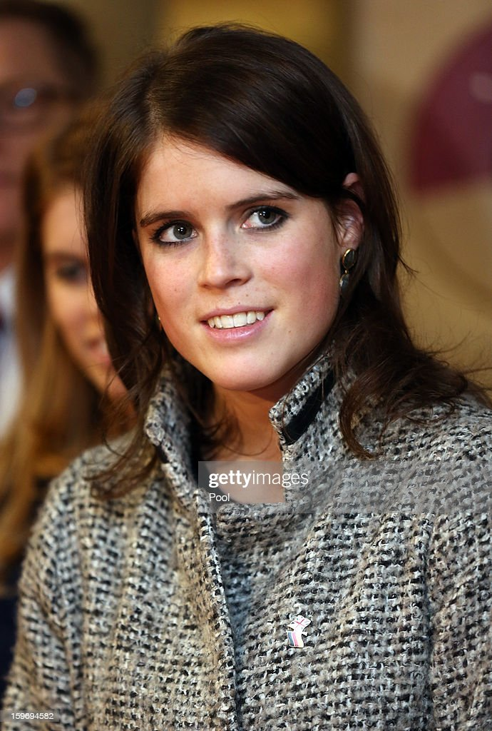 Princess Eugenie is seen during a visit to the Teenage Cancer Treatment Unit at the University of Medicine on January 18, 2013 in Hanover, Germany. The royal sisters are in Hanover on the second day of a two day visit to Germany. Yesterday the royals were in Berlin helping support GREAT, the British Government's initiative promoting the UK abroad.