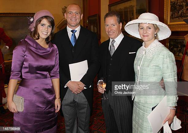 Princess Eugenie Mike Tindall David Linley and Serena Linley attend a reception at Guildhall on June 5 2012 in London England For only the second...