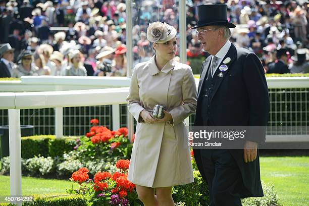 Princess Eugenie of York and guest attend day one of Royal Ascot at Ascot Racecourse on June 17 2014 in Ascot England
