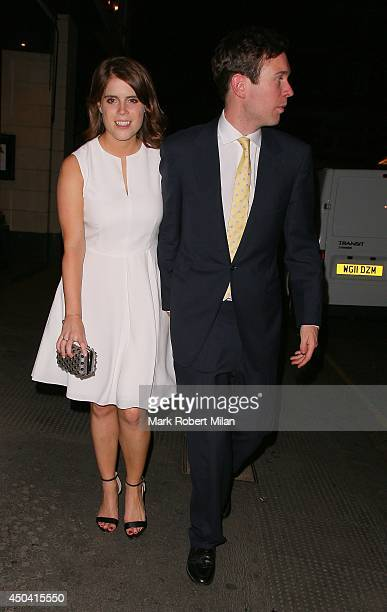 Princess Eugenie of York and Jack Brooksbank at Tonteria night club on June 10 2014 in London England