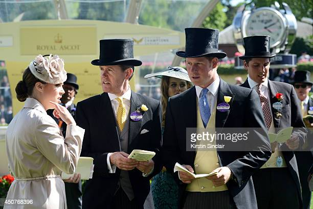 Princess Eugenie of York and Prince Harry attend day one of Royal Ascot at Ascot Racecourse on June 17 2014 in Ascot England