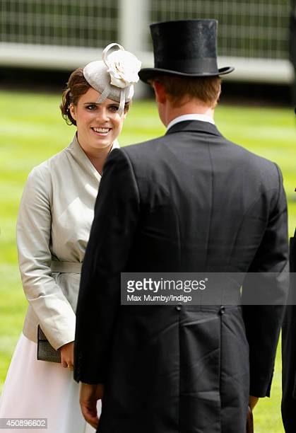 Princess Eugenie of York and Prince Harry attends Day 3 Ladies Day of Royal Ascot at Ascot Racecourse on June 19 2014 in Ascot England