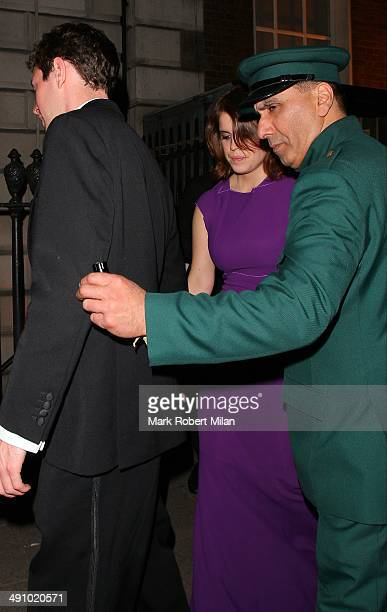 Princess Eugenie of York at Annabel's club on May 15 2014 in London England