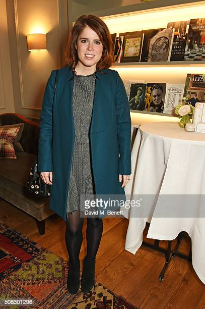 Princess Eugenie of York attend the launch of Forte Organics hosted by Irene Forte at Brown's Hotel a Rocco Forte Hotel on February 4 2016 in London...