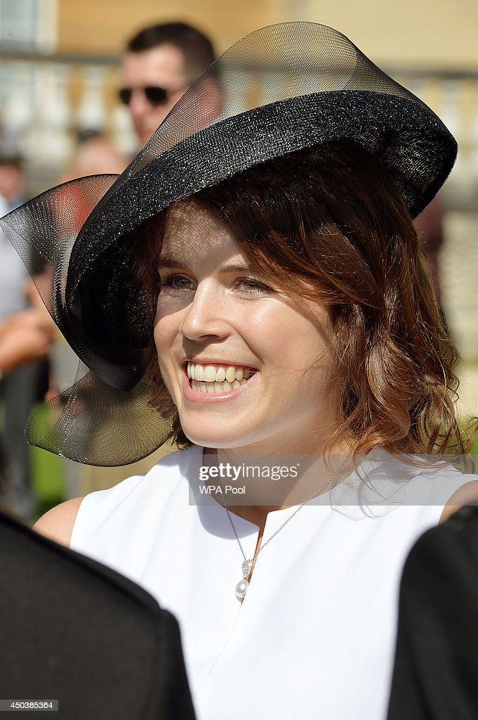 Princess Eugenie of York attends a garden party held at Buckingham Palace on June 10, 2014 in London, England.