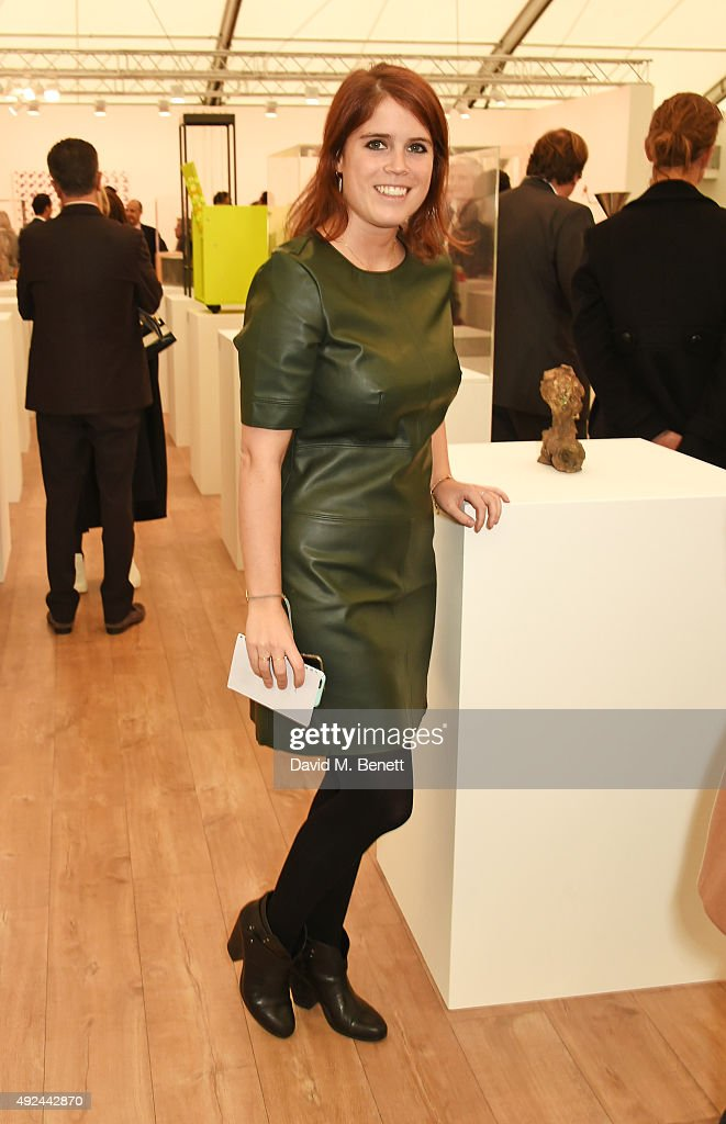 Princess Eugenie of York attends a VIP preview of the Frieze Art Fair 2015 in Regent's Park on October 13, 2015 in London, England.