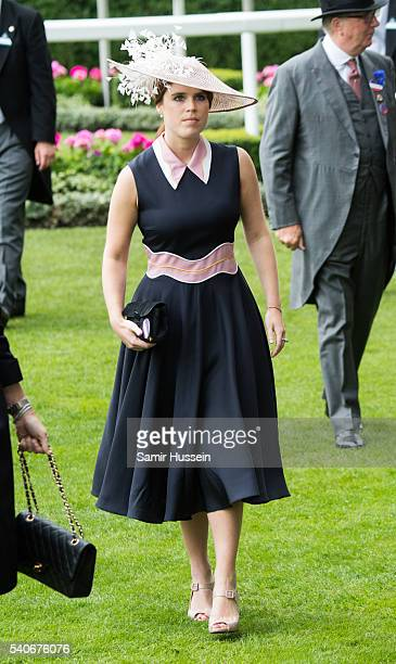 Princess Eugenie of York attends day 3 of Royal Ascot at Ascot Racecourse on June 16 2016 in Ascot England