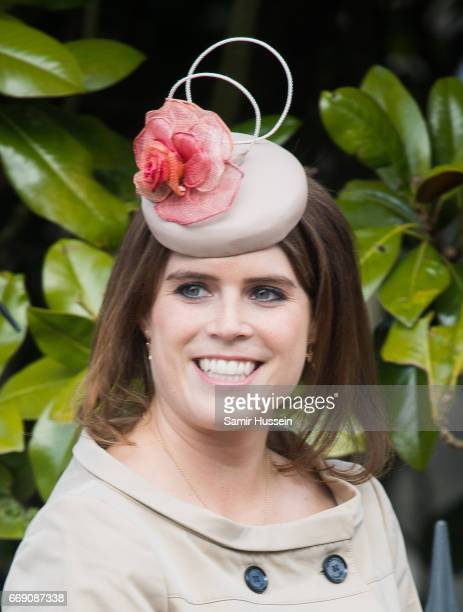Princess Eugenie of York attends Easter Day Service at St George's Chapel on April 16 2017 in Windsor England