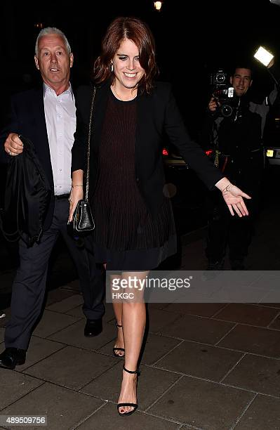 Princess Eugenie of York attends Love Magazine's Party at Lulu's Member's Club on September 21 2015 in London England