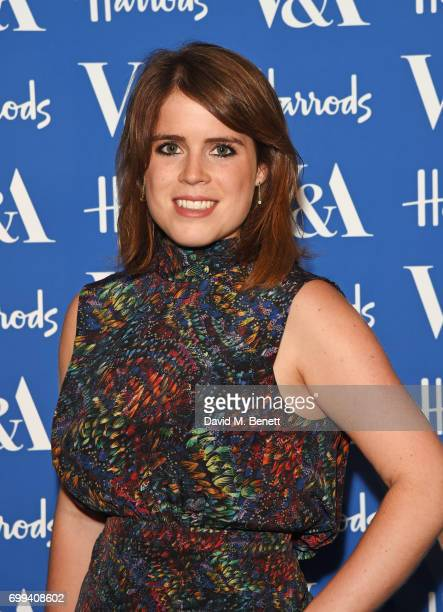 Princess Eugenie of York attends the 2017 annual VA Summer Party in partnership with Harrods at the Victoria and Albert Museum on June 21 2017 in...