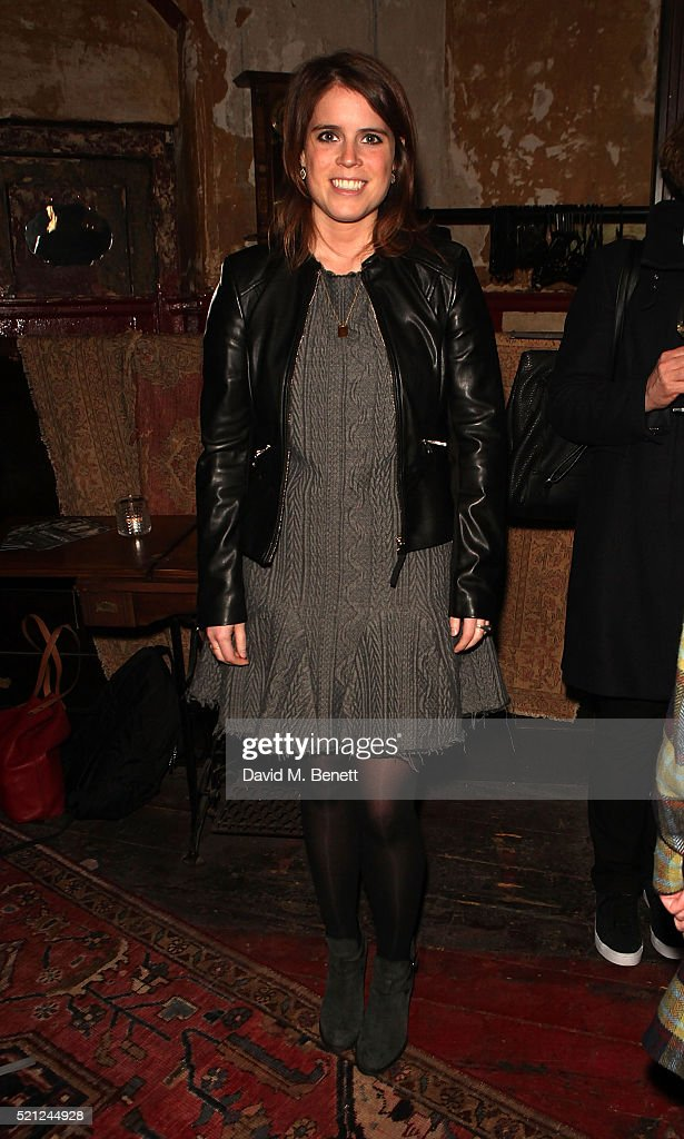 Princess Eugenie of York attends the press night performance of 'Deathwatch' at The Coronet on April 14, 2016 in London, England.