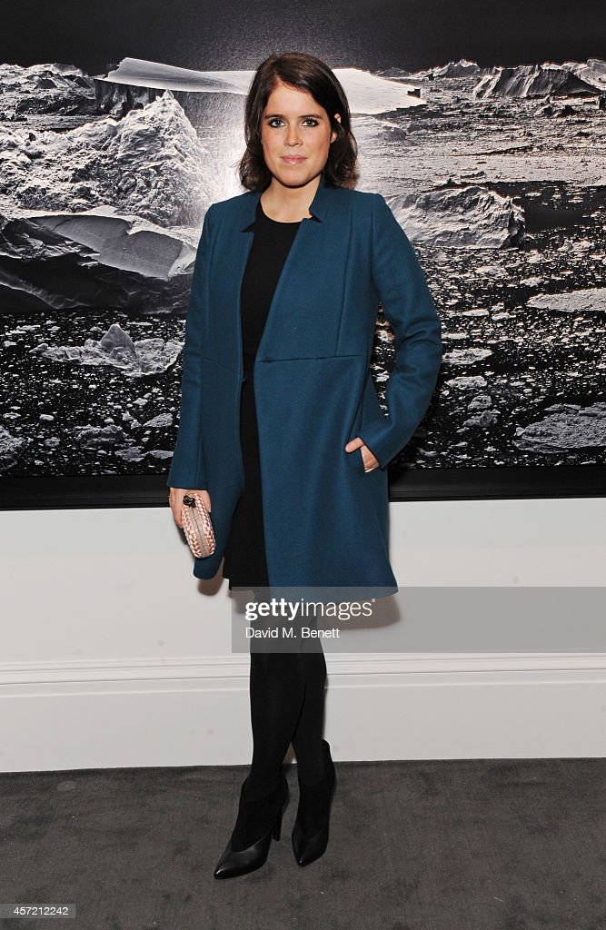Princess Eugenie of York attends the private view of 'Monuments' by Fabien Baron hosted by Montcler at Sotheby's on October 14, 2014 in London, England.