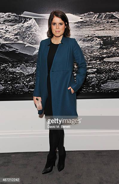 Princess Eugenie of York attends the private view of 'Monuments' by Fabien Baron hosted by Montcler at Sotheby's on October 14 2014 in London England