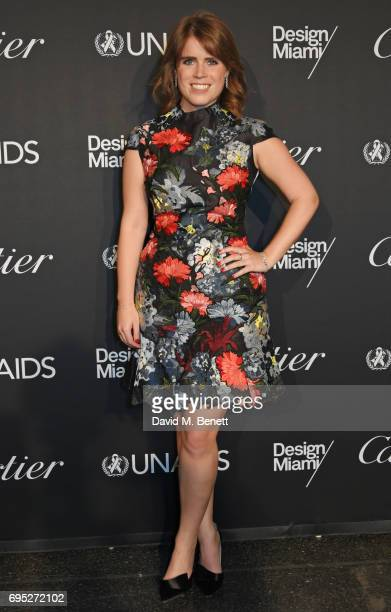 Princess Eugenie of York attends the UNAIDS Gala during Design Miami / Basel 2017 on June 12 2017 in Basel Switzerland