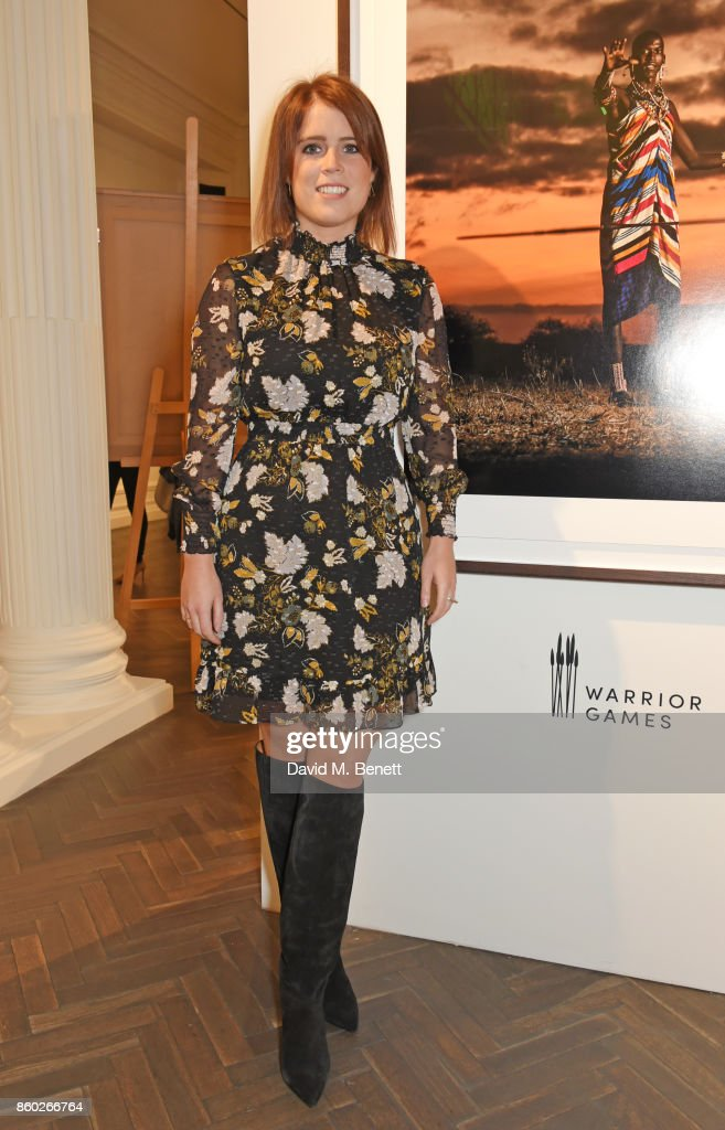 Princess Eugenie of York attends the Warrior Games Exhibition VIP preview party sponsored by Chantecaille and hosted by HRH Princess Eugenie, Waris Ahluwalia and Sylvie Chantecaille at The Halcyon Gallery on October 11, 2017 in London, England.