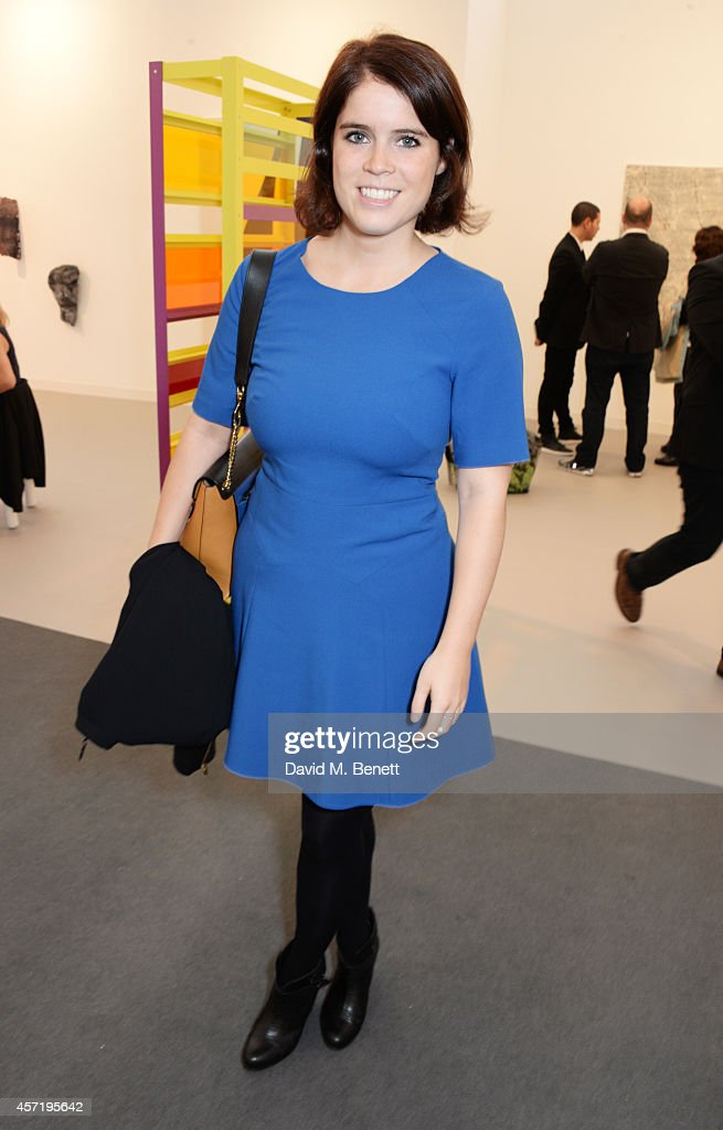 Princess Eugenie of York attends VIP Preview of the Frieze Art Fair 2014 in Regent's Park on October 14, 2014 in London, England.